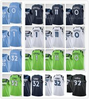 2020-21 Yeni Erkek Kadın Kids D'Angelo 0 Russell Karl-Anthony 32 Kasabalar Ricky 11 Rubio Anthony 1 Edwards Formalar Basketbol Gömlekleri