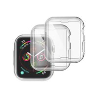 Clear Transparente TPU Cover Watch Case für Apple Watch iWatch 38mm 42mm 40mm 44mm 360 Vollbild-Beschützer