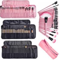 32Pcs Professional Makeup Brush + Storage Case Kit Eyes Cosmetic Brushes Set Hot #24