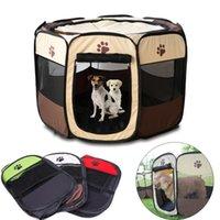 Coprire il seggiolino auto per cani Coperchi all'aperto Pet Ottagonale Recinto Ottagonale Pieghevole Tenda Pieghevole Tenda Casa Cat Playpen Puppy Kennel Sofa Forniture