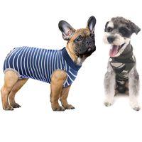 Costume de récupération de chien T-shirt Cat Pet Cat Médical Vêtements Confortable Vêtements postopératoires après la chirurgie Porter JK2012XB