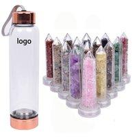 550ml Infundierte natürliche Edelstein Kristallstäbe Kristallsteine Für Heilung Kristall Kiespunkt Wasserflasche
