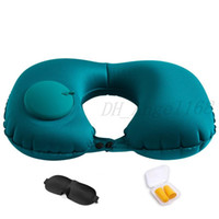 U Shaped Air Office Pillow Portable Inflatable Press Pillow Soft Car Outdoor Travel Hiking Head Rest Air Neck Home Sleep Cushion