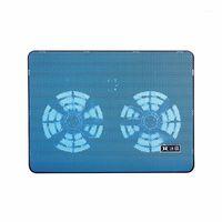Dizüstü Soğutma Pedleri Pad Çift Fanlar Soğutucu İki USB Bağlantı Noktası Ile Yüksek Performanslı Yüksek Performanslı Dizüstü Bilgisayar Destek 17 inç Blue1