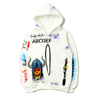 Hoodie Graffiti Men Stylist Hoodies 19ss High Quality White ...