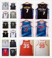 Dikişli Erkekler 2021 Şehir Siyah Mavi Kevin 7 Durant Formalar Basketbol 35 Koleji NCAA Gömlek Turuncu Beyaz Gri Renk Gençlik Çocuklar
