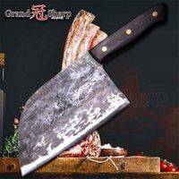 7-Zoll-handgemachtes geschmiedetes Chefmesser Müll-Stahl-geschmiedetes chinesisches Cleaver Professionelle Küche Chefmesser