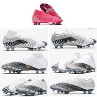 Hızlı Teslimat Mercurial Superfly 360 VII 7 Elite FG Futbol Ayakkabı CR7 SE Neymar Erkek Kadın Çocuklar Outdor Futbol Boots Cleats US3-11