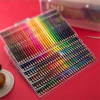 180 holzfarbige Bleistifte Set 2b öl bunt für kind professionelle malerei zeichnung schreibwaren regenbogen farbe stift liefert y200709