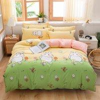 Conjuntos de ropa de cama Cubierta de algodón de ropa de cama Músculas de edredón Set de edredón Linda hoja de Navidad.
