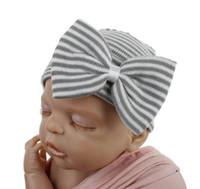 HOSPITAL DE NUEVO INFANTIL HOTER BABY HAT CAPS CON BOW SOFT SOFT LINEAVERIO GORARIA BEANIA PIEL PARA PIEL DE INVIERNO CALIENTE DE INVIERNO