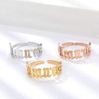 Atacado 12 pcs gótico velho inglês anéis do zodíaco para mulheres constelação jóias de aço inoxidável em aço inoxidável anel 2020 y1128