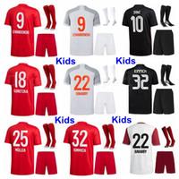 Lewandowski Youth Jersey Socks Soccer Set Kids Davies Nianzou Dajaku Coutinho Sane Pavard Boateng Muller Coman كرة القدم قميص أطقم B-R