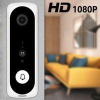 Doorbells V20 Smart WiFi Vidéo Soignée Vidéo Camera Visual Interphone Visuelle avec Chime Night Vision Porte IP Bell Wireless Home Sécurité Sécurité Blanc1