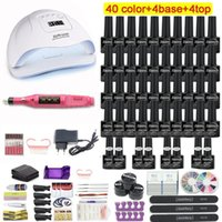 Kit per le unghie Set Set UV LED Lampada Asciugatrice con 45/30/20/10 PCS Gel Polish Kit Strumenti per trapano elettrico Immergere manicure