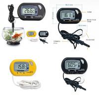 Temperaturinstrumente Mini LCD Digital Aquarium Thermometer Aquarium Wasserwerkzeug Schwarzes Gelb mit Wired Sensor DDA2 M2