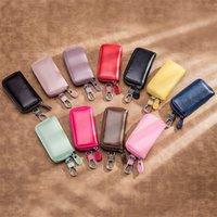 الجلود حقيبة كيس بطاقة keycase diy سيارة متعدد الألوان الأزياء الإكسسوارات مكافحة فقدان امرأة رجل مفاتيح حامل متعدد الوظائف هدايا 12YB K2