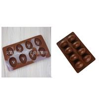 Couleur Solid Couleur Silicone Chocolate oeufs de gâteau Décorations de cuisson Outils de cuisson Femme Moule Festival Festival 3 9sy K2