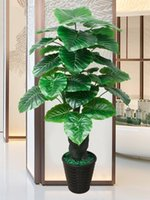 장식 꽃 화환 인공 식물 큰 잎 좋은 행운의 나무 홈 장식 녹지 식물 나무 장식 집 bonsai1