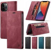 아이폰 12 11 프로 레트로 마그네틱 카드 스탠드 지갑에 대한 Caseeme 원래 플립 케이스 아이폰 12 분 X S 최대 6 7 8 Plus SE2020 케이스