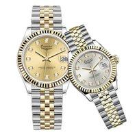 Dropshipping-U1 Qualidade Montre de Luxe Mens Relógios Automático Aço Inoxidável Mulheres Luminosas Assista Casais Estilo Clássico relógios de pulso