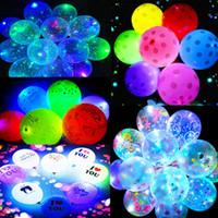 9 Arten LED leuchtende Ballons transparent klare Bobo Bälle Party Hochzeit Valentinstag Dekor Geschenke Herzform Punkte Brief Druck E121803