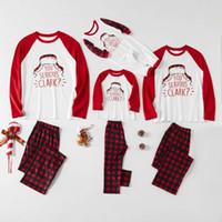2020 새로운 크리스마스 가족 일치 잠옷 세트 가족 소년과 소녀를위한 산타 사슴 잠옷 W-00476