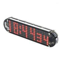 타이머 DS3231 다기능 알람 시계 LED 도트 매트릭스 애니메이션 효과 DIY 키트 선물 P0RE1