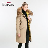 Eurasia New Full Solid Women' s Mid- long Winter Jacket S...