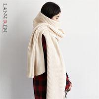Lanmrem Outono e Inverno Novo Turtleneck pulôver camisola como colar de lenço de duas maneiras vestindo Moda Malhas TV873 201221