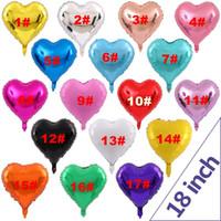 HOTTA Vendita Amore a forma di cuore a forma di 18 pollici palloncino Balloon Birthday Wedding Capodanno Laurea Party Decorazione Aerostato Aerostato DHD3445