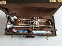 Высокое качество Bach Streadivarius LT180S-72 Trumpet подлинный двойной серебристый B плоская профессиональная труба высших музыкальных инструментов