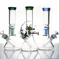 11,2 pulgadas de cristal Bong 5MM Espesor del tubo de agua con 6 árboles brazo bol de vidrio + downstem de cristal Bongs Mujer Dab Rig