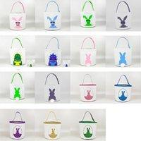 Osterkorb Cartoon Kaninchen Körbe Dinosaurier Korb Kaninchen Gedruckt Candy Bag Baby Spielzeug Aufbewahrungstasche WY1213