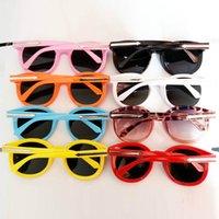 플라스틱 프레임 선글라스 유아 리벳 라운드 그늘 미러 렌즈 안경 PS0521