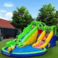 Crocodile Swamp Slide de Água Para Crianças Supplie Feliz Lúpulo Design Inflável Slides Waters Park Kid Piscina Bounce Casa