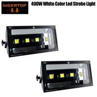 Tiptop 2xlot LED 무대 조명 400W 스트로브 라이트 4 x 100W 높은 밝기 흰색 LED AVRUPLOAD 커넥터 3000W 원자 스트로브 라이트와 동일