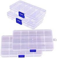 15 그리드 홈 스토리지 박스 빈 스토리지 컨테이너 상자 케이스 보석 귀걸이 케이스 홀더 주최자 상자