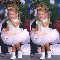 Baby Kleinkind Miss America Girl's Pageant Kleider Sonderanfertigte Organza Party Cupcake Blumenmädchen Hübsches Kleid für Kleinkind BC2934