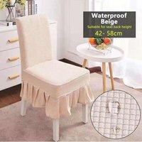 Cubiertas de silla Universal Super SOFT TRANTAL TERM PULSO A prueba de agua Cubierta de estiramiento Spandex Asiento para comedor / banquete