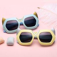 Óculos de Sol Zenottic Kid Silicone Diabo Chifre Polarizada Meninas Bonitos Meninos UV400 Óculos De Goggles Somas Óculos Dos Desenhos Animados Crianças Sun óculos de sol
