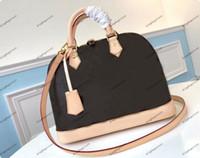 Alma de Couro Genuíno de Alta Qualidade Alma N41221 Mulheres Sacos Bolsa De Bolsa Shopping Crossbody Bag Ombro Bolsas Bolsa