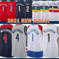 2021 New Zion 1 Williamson Basketball Jersey Lonzo 2 Ball Hommes Russell 4 Westbrook pas cher Vert
