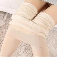 Donne inverno leggings caldo leggings elastico in vita alta plus velluto spessore artificiale pantaloni stretch slim slim pantaloni spessi donne 8 colori