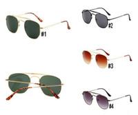 브랜드 선글라스 남자 여자 일요일 안경 전체 프레임 금속 드라이버 선글라스 안경 UV400 보호 고글 선글라스