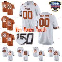 Сшитые пользовательские 1 Degabriel Floyd 10 Vince Young 11 Sam Ehlinger 12 Colt McCoy Texas Longhorns Men College женщины молодежь Джерси