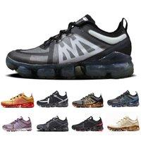 36-45 Vampor max Noir Gris Coussin Chaussures de course de sport Femmes Hommes Canyon or rose pourpre aluminium bleu Baskets de sport Chaussures de sport