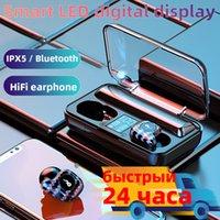 2020 새로운 M20 디지털 디스플레이 무선 이어폰 노이즈 귀에 EAR TWS A19 블루투스 이어폰에 스테레오를 취소합니다. 무료 배송