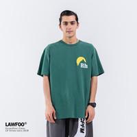 2020 Erkek Tasarımcı T Gömlek Erkek Kadın Streetwear Rahat Yüksek Sokak Tshirt Pamuk Çift Üst Tees Rhude T-Shirt Yeni