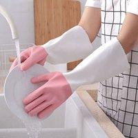 جديد غسل الصحون قفازات سيليكون للماء، مضاد للدفء الدفء المخملية سيليكون قفازات المطبخ سيليكون مقاومة للحرارة